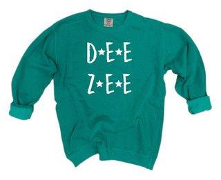 Delta Zeta Comfort Colors Starry Night Crew