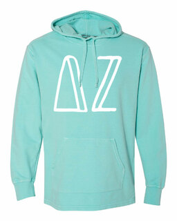 Delta Zeta Comfort Colors - Terry Scuba Neck Greek Hooded Pullover
