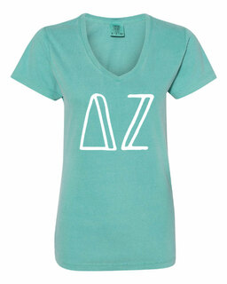 Delta Zeta Comfort Colors V-Neck T-Shirt