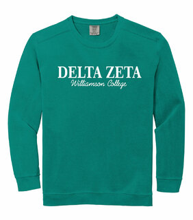 Delta Zeta Comfort Colors Script Greek Crewneck Sweatshirt