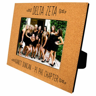 Delta Zeta Cork Photo Frame