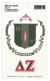 Delta Zeta Crest - Shield Decals
