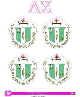 Delta Zeta Crest Sticker Sheet