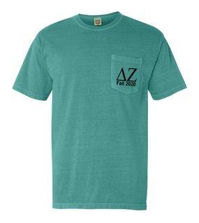 Delta Zeta Custom Comfort Colors Pocket Tee