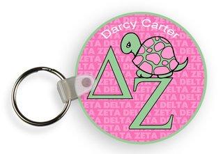 Delta Zeta Custom Mascot Keychains
