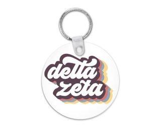 Delta Zeta Retro Script Keychain