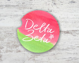 Delta Zeta Sandstone Car Cup Holder Coaster