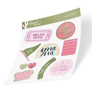 Delta Zeta Cute Sticker Sheet