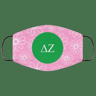 Delta Zeta Daisies Face Mask