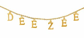 Delta Zeta - DEE ZEE Sorority Letter Necklace