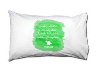 Delta Zeta Motto Watercolor Pillowcase
