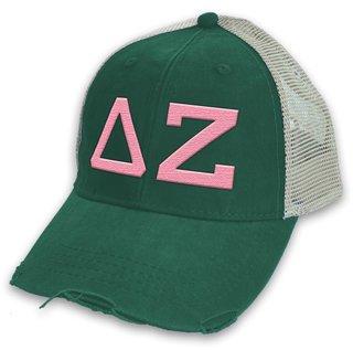 Delta Zeta Distressed Trucker Hat