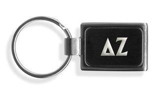 Delta Zeta Engraved Chrome Keychains