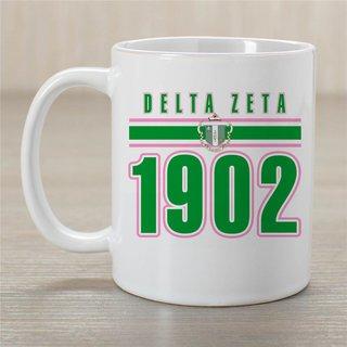 Delta Zeta Established Year Coffee Mug - Personalized!