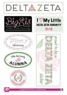 Delta Zeta Family Sticker Sheet