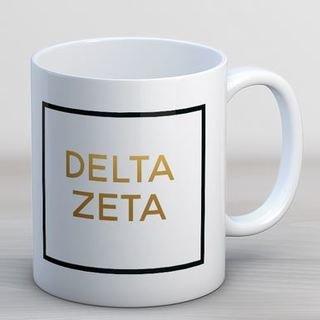 Delta Zeta Faux Foil Coffee Mug