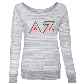 DISCOUNT-Delta Zeta Fleece Wideneck Sweatshirt