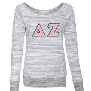 DISCOUNT-Delta Zeta Fleece Wideneck Sweatshirt