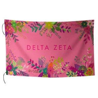 Delta Zeta Floral Flag