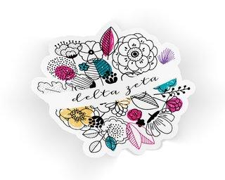 Delta Zeta Flower Sticker