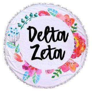 Delta Zeta Fringe Towel Blanket