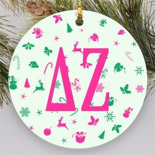 Delta Zeta Holiday Cheer Ornaments