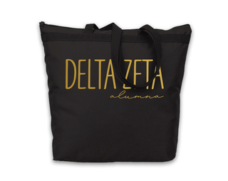 Delta Zeta Gold Foil Alumna Tote