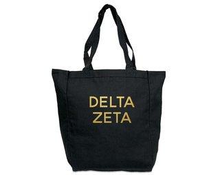 Delta Zeta Gold Foil Tote bag