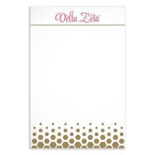 Delta Zeta Gold Notepads