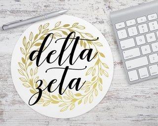 Delta Zeta Gold Wreath Mousepad