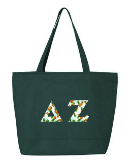 Delta Zeta Greek Letter Zipper Tote