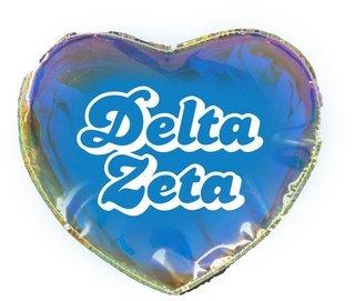 Delta Zeta Heart Shaped Makeup Bag