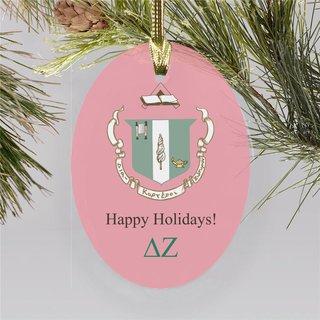 Delta Zeta Holiday Color Crest - Shield Ornament