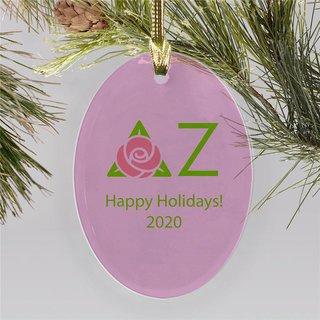 Delta Zeta Holiday Color Mascot Christmas Ornament