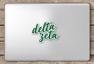 Delta Zeta Script Sticker