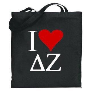 Delta Zeta I Love Tote Bags