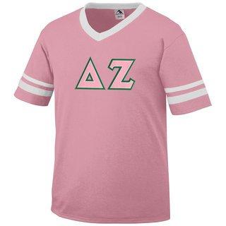 DISCOUNT-Delta Zeta Jersey With Greek Applique Letters