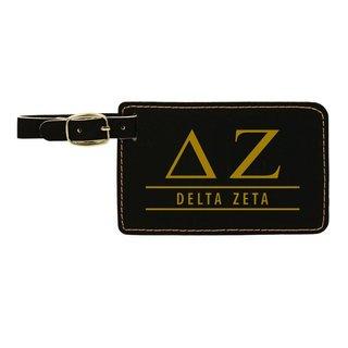 Delta Zeta Leatherette Luggage Tag