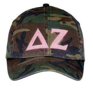 Delta Zeta Lettered Camouflage Hat
