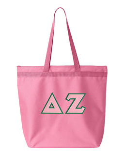 DISCOUNT-Delta Zeta Lettered Game Day Tote