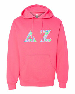 Delta Zeta Lettered Independent Trading Co. Hooded Pullover Sweatshirt