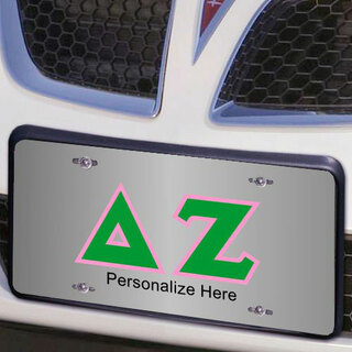 Delta Zeta Lettered License Cover