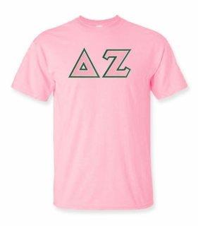 Delta Zeta Lettered T-shirt - MADE FAST!