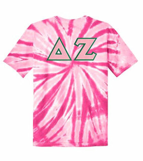 DISCOUNT-Delta Zeta Lettered Tie-Dye t-shirts for only $30!