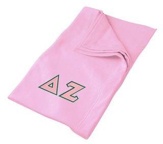 DISCOUNT-Delta Zeta Lettered Twill Sweatshirt Blanket