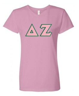 DISCOUNT-Delta Zeta Lettered V-Neck Tee