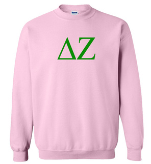Delta Zeta Lettered World Famous Greek Crewneck