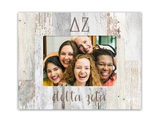 Delta Zeta Letters Barnwood Picture Frame