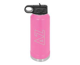 Delta Zeta Letters Stainless Water Bottle