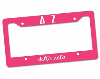 Delta Zeta Custom License Plate Frame